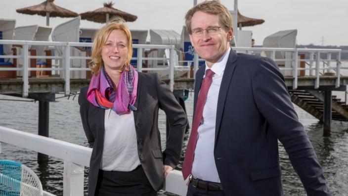 Karin Prien und Daniel Günther